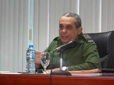Emilio Matos Mosqueda, Vicepresidente del Consejo de Defensa Provincial y Gonernador de Guantánamo transmitió una felicitación a las federadas guantanameras por el 60 Aniversario de su organización