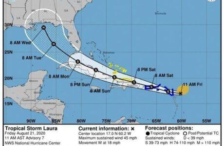 Fase Informativa para el oriente de Cuba ante aproximación de la Tormenta Tropical Laura