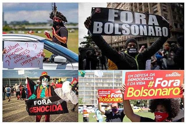 Vuelven a las calles en Brasil por destitución de Bolsonaro