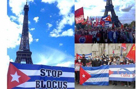 Convocan en Francia movilización contra el bloqueo a Cuba