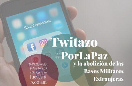 Participa: Tuitazo por la paz y contra las bases militares extranjeras