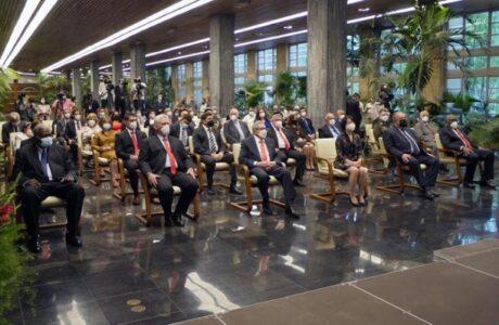 Asisten Raúl y Díaz-Canel a acto por el centenario del Partido Comunista de China
