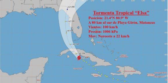 En vivo: Tormenta tropical Elsa avanzará tierra adentro en Cuba por Matanzas (+Video)