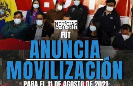 Organizaciones y trabajadores de Ecuador llaman a protesta nacional