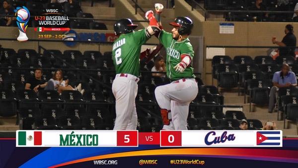 Derrota ante México en Mundial Sub-23 de Beisbol