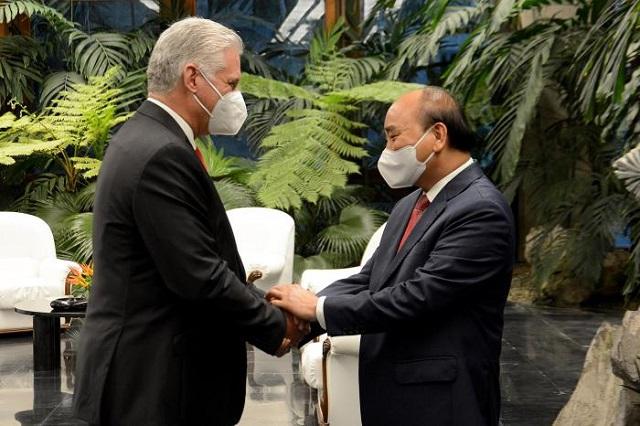 Recibió Díaz-Canel al Presidente de la República Socialista de Vietnam