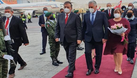 Presidente cubano Miguel Díaz-Canel llega a México para cumplimentar visita oficial (