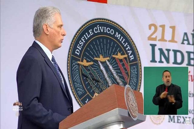 Resalta Díaz-Canel históricos lazos de hermandad entre Cuba y México