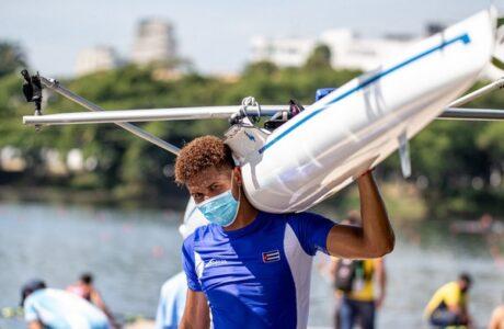Cuba con par de botes a remo de Juegos de Cali 2021