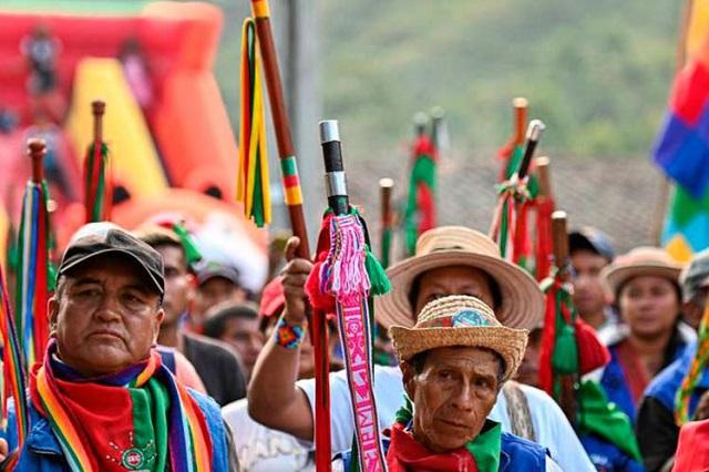 Indígenas en Colombia sin nada que celebrar y en resistencia