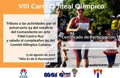 En Cuba: Carrera Ideal Olímpico contra la COVID-19