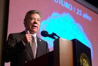 Santos ratifica optimismo en torno a diálogos de paz con FARC-EP