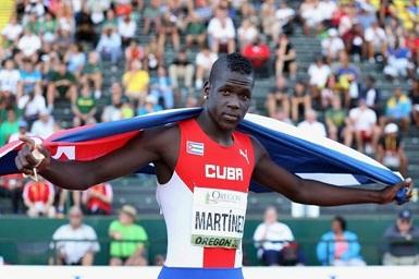 Triplista guantanamero Lázaro Martínez