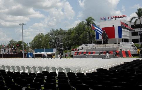 En Sancti Spíritus, acto central por el Día de la Rebeldía Nacional